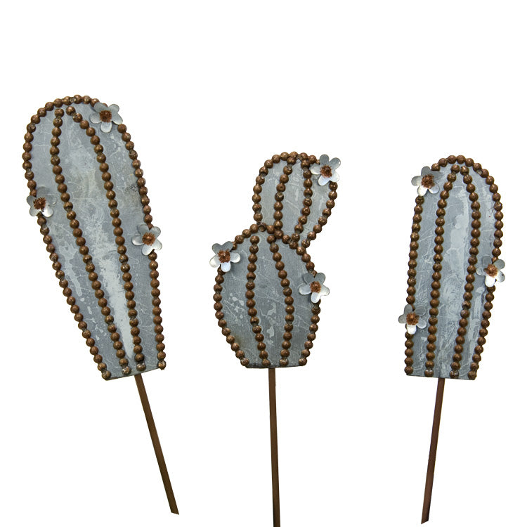 Galvanized Rust Cactus Mini