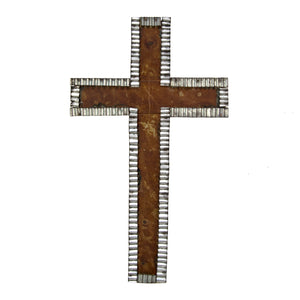 Galavanized Rust Cross with Pie Crust