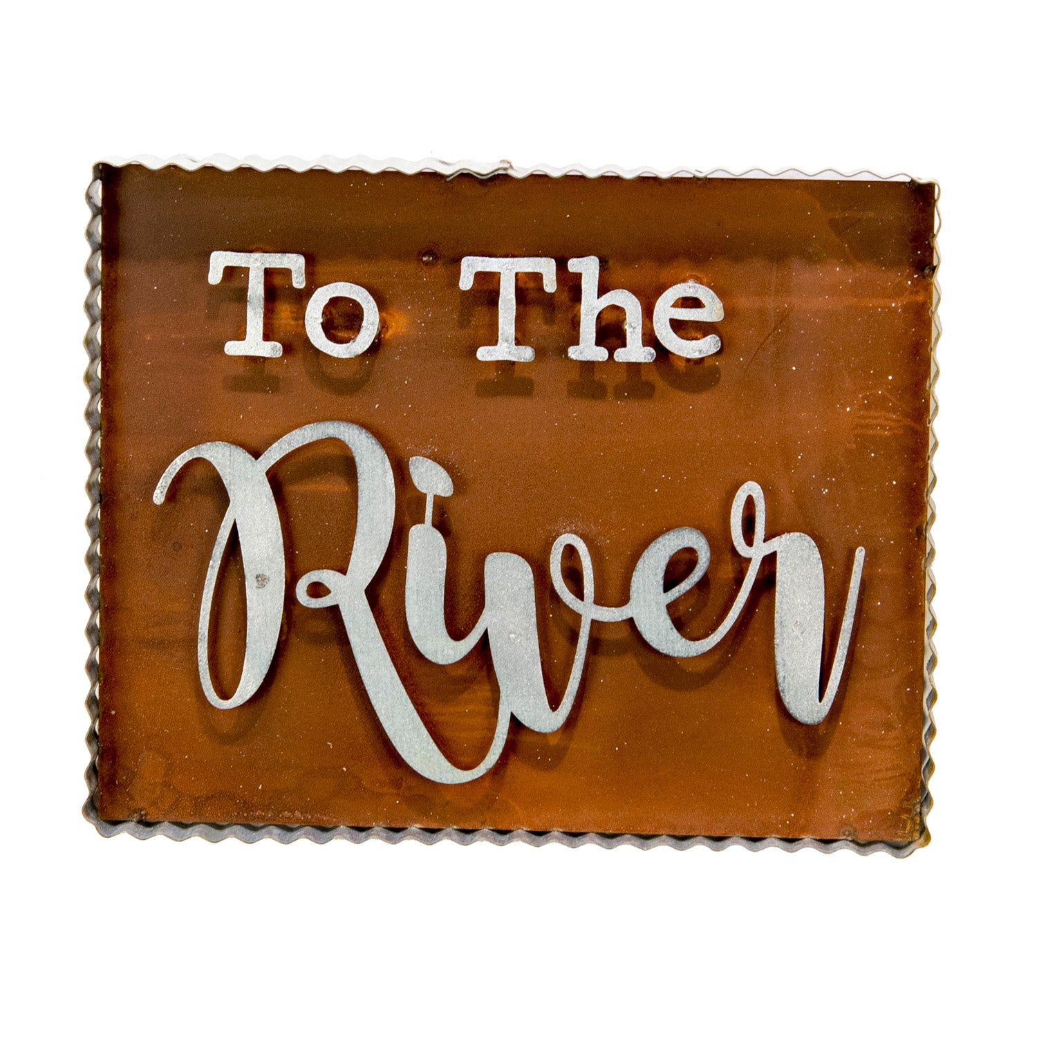 "Rustic ""To the River"" Sign"