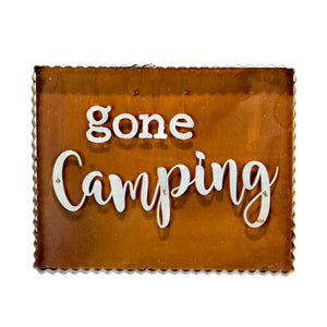 "Rustic ""Gone Camping"" Sign"
