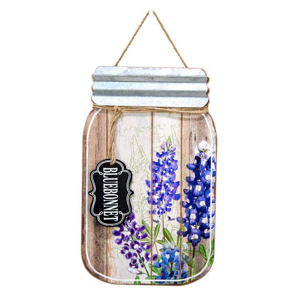 Jar of Bluebonnets Hanger