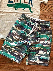 Gator Camo Kid's Swim Trunks