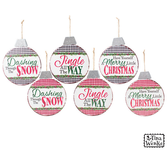 Assorted Christmas Messages Ornaments