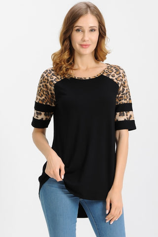 The Leopard Banded Sleeve Tunic
