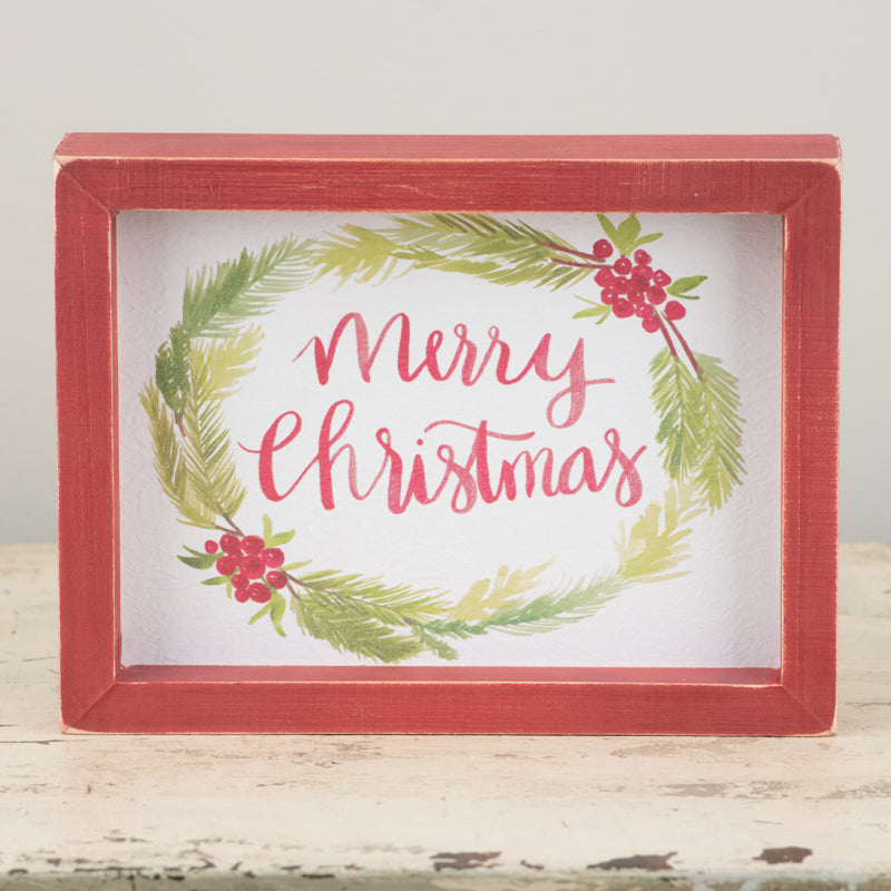 Merry Christmas Framed Board Small