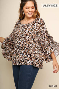 The Melanie Leopard Print Top