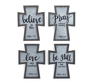 Wall Hanging Crosses With Message