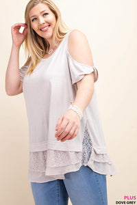 Sweet Caroline Cold Shoulder Top