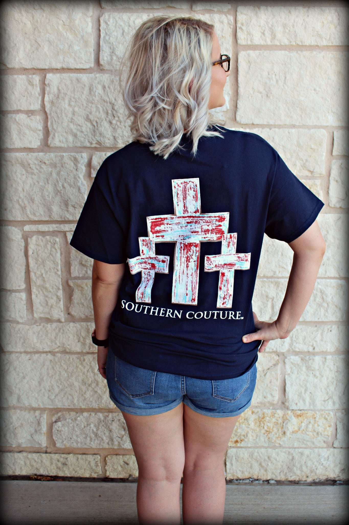 SC Classic Distressed Crosses Tee