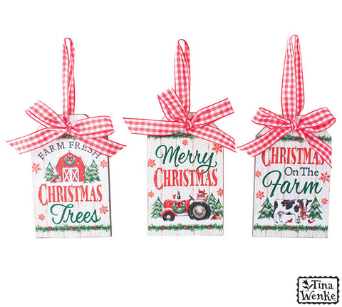 Farm Design Gift Tag Ornament