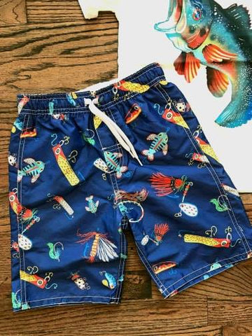 Fishing Lure Kid's Swim Trunks