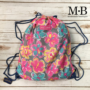 Simply Southern Floral Drawstring Bag