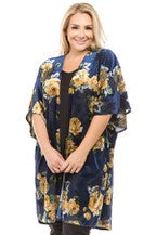 The Abigail Floral Velvet Cardigan