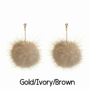 Abby Pom Earrings