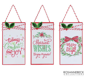 Gift Tag Ornaments With Holiday Messages