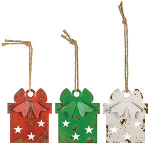 Large Star Wrap Gift Ornament