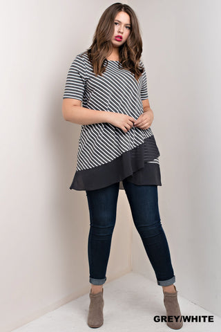 The Becca Double Stripe Top