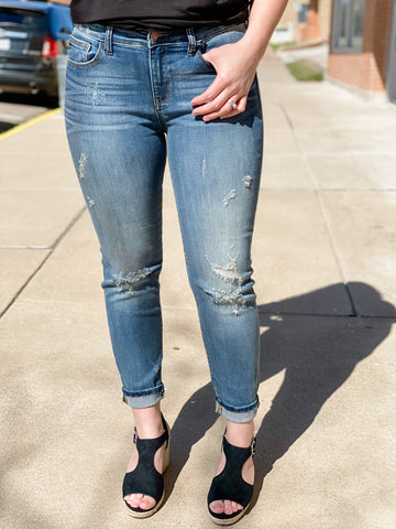 Judy Blue Destroyed Relaxed Fit Jeans