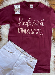 Kinda Sweet Kinda Savage Tee
