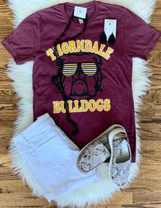 Mascot Sunglasses Tee || Thorndale Bulldogs