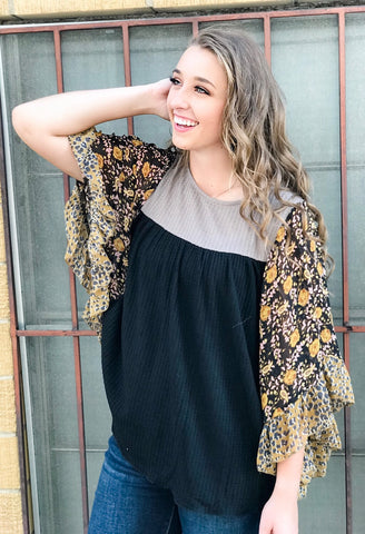The Audra Dolman Sleeve Top