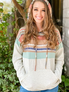Melrose Serape Top with Hood