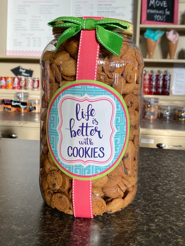 Chocolate Chip Cookie || 40oz Plastic Gallon Jar
