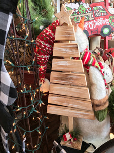 White Wood Slat Tree L