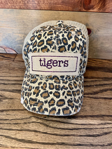 Leopard Mascot Hat || Purple Tigers