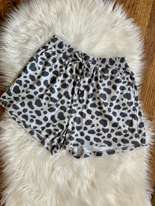 Cow Print Lounge Shorts