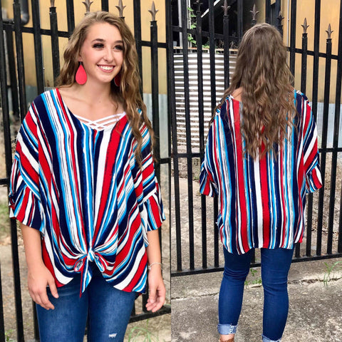 The Carried Away Striped Top