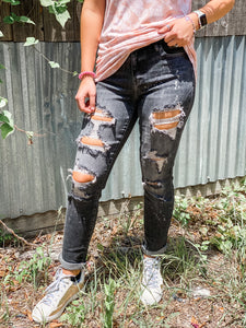 Korie Boyfriend Distressed Judy Blue Jeans