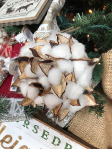 Cotton Hanging Ball Ornament