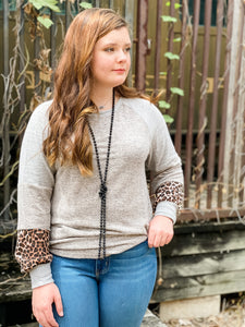 Dakota Grey and Leopard Top