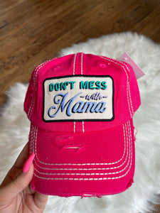 Don't Mess with Mama Hat || Hot Pink