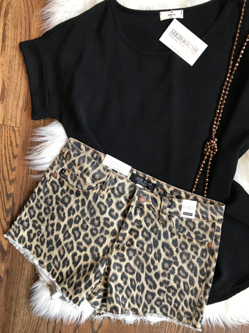 Judy Blue Leopard Shorts