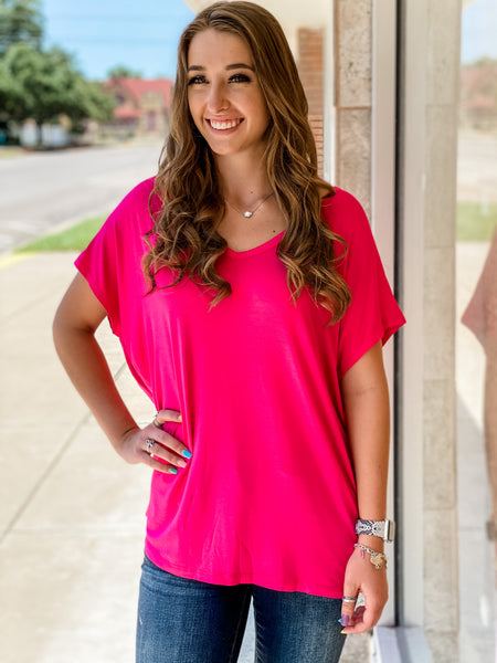 Beaux Top || Fuschia