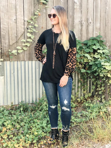 The Leopard Sleeve Top