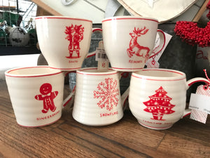 Assorted Molly Hatch Christmas Mugs
