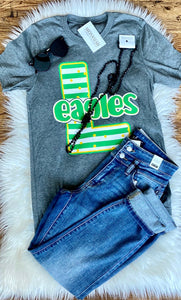 Eagles Striped Letter Tee