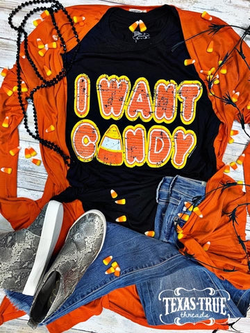 I Want Candy Tee | Adult & Youth