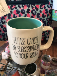 """Cancel Subscription"" Ceramic Mug"