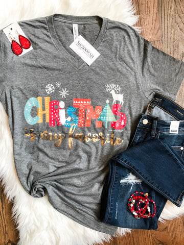 Christmas is My Favorite Tee Toddler - Adult
