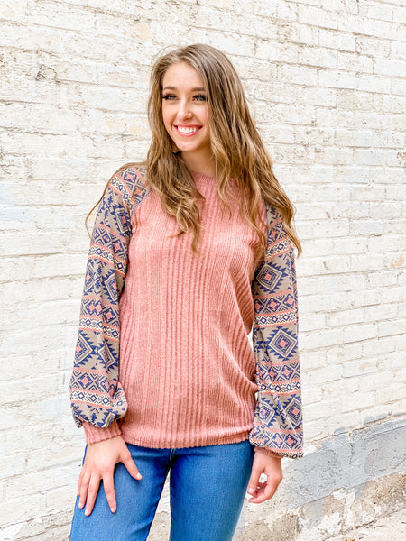 Savannah Aztec Top