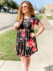 The Midnight Floral Dress