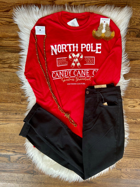 North Pole Candy Cane Co. Long Sleeve Tee