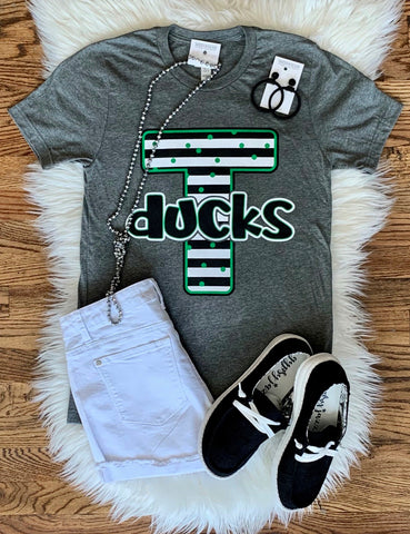 Ducks Striped Letter Tee