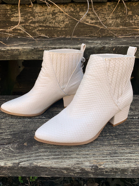 City Boot || White