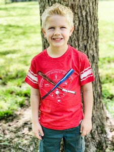 Baseball Sleeve Stripe Kid's T-Shirt