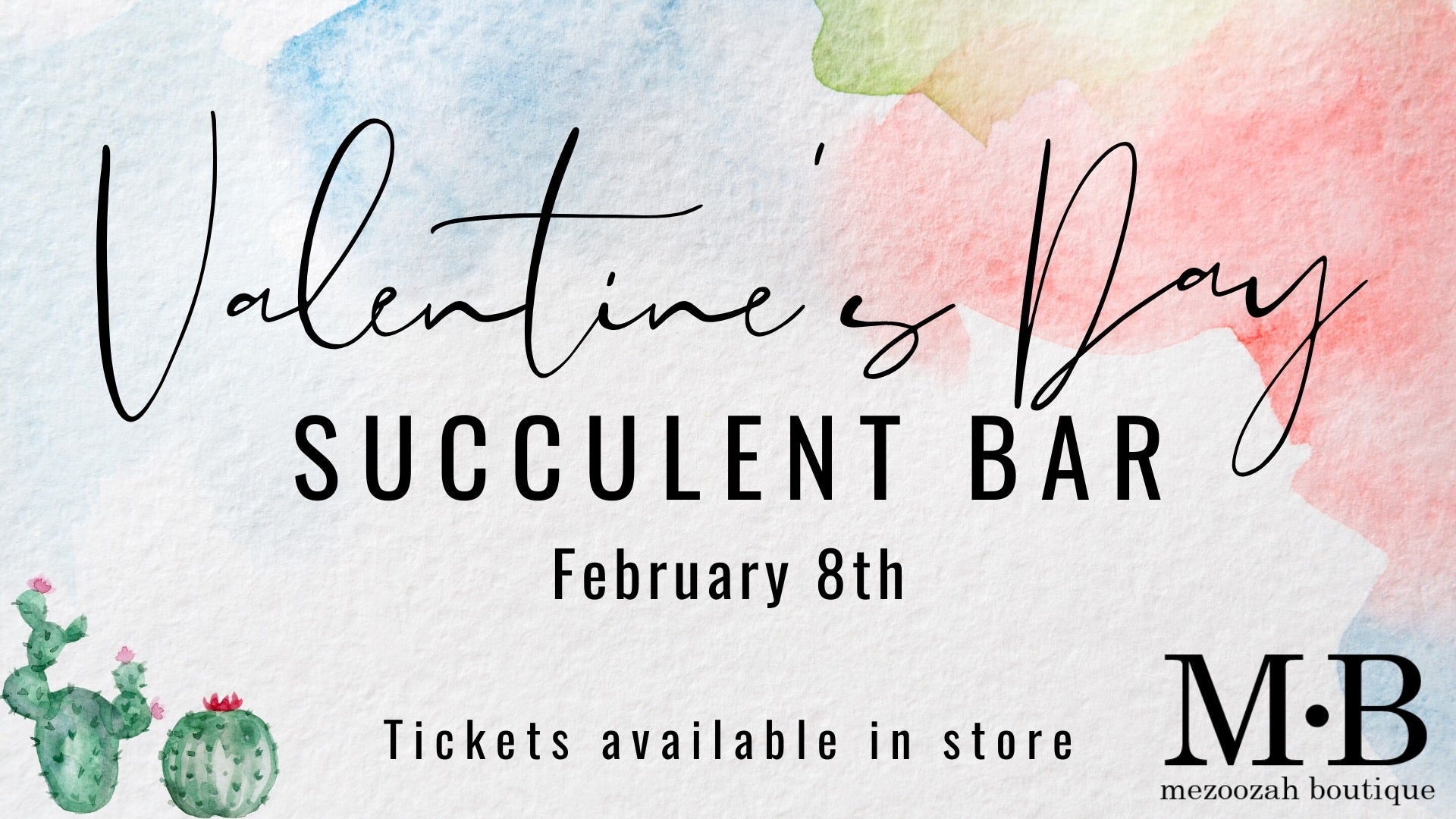 Succulent Bar TICKET